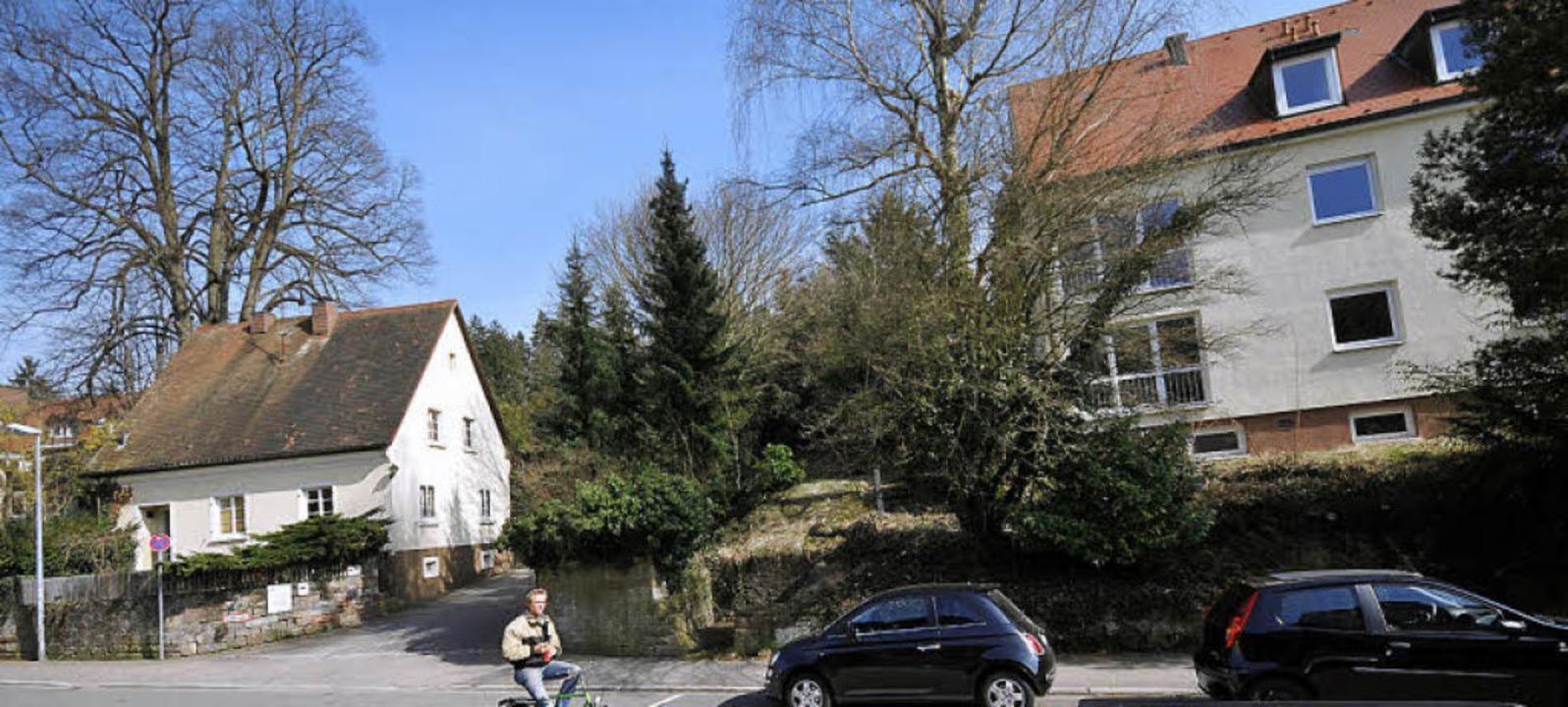 Das zwei Jahre alte Archivfoto zeigt, ...e Tiefgarageneinfahrt weichen musste).  | Foto: Ingo Schneider