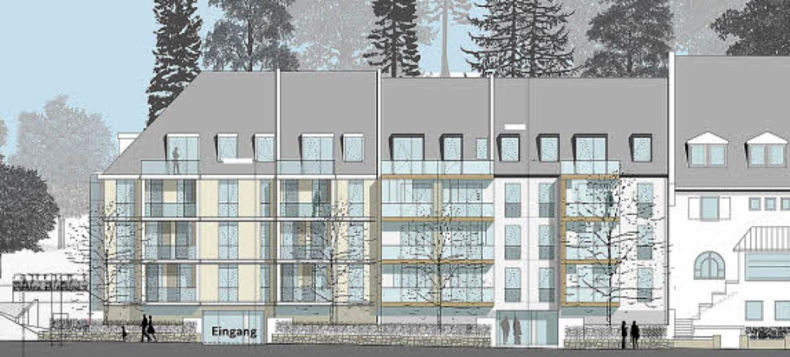 Diesen Plan der Fassadengestaltung präsentierte der Bauverein im Vorfeld.  | Foto: Bauverein