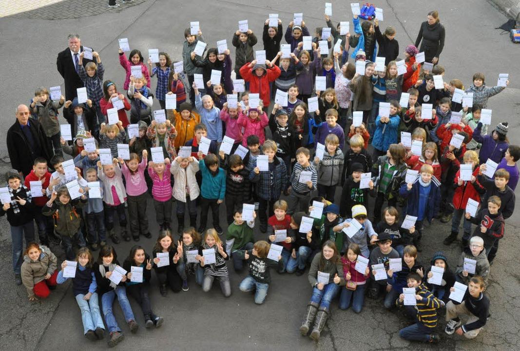 123 Sportabzeichen an der Hebelschule bedeuten Rekord.     Foto: Barbara Ruda