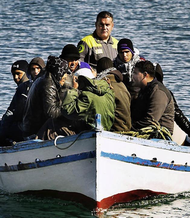 Kurs auf  Lampedusa     Foto: DPA
