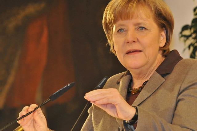 Merkel in Freiburg: Finanzmärkte strikt regulieren