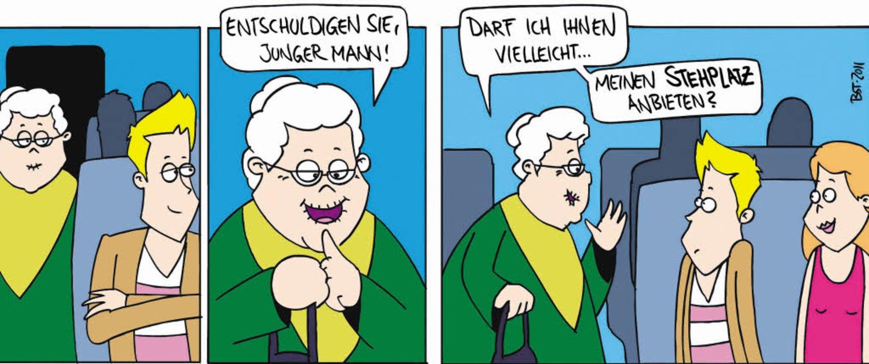 In Form von Mini-Comics will die SBB i...nehmen und die Züge sauber zu halten.   | Foto: SBB Deutschland