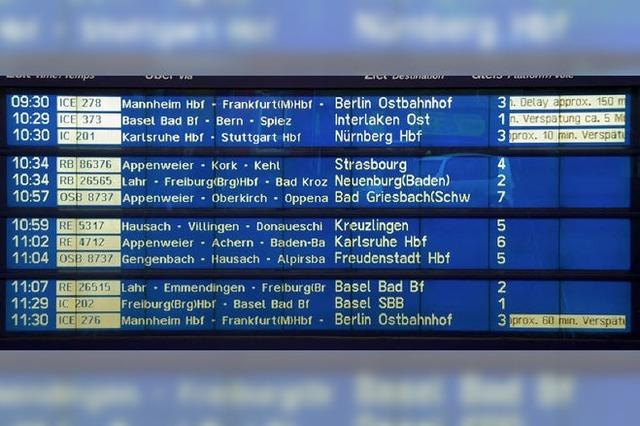Weniger Warnstreikchaos auf Rheintal- und Schwarzwaldbahn