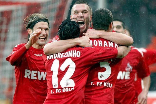 Köln gegen SC Freiburg: Medien feiern Podolski