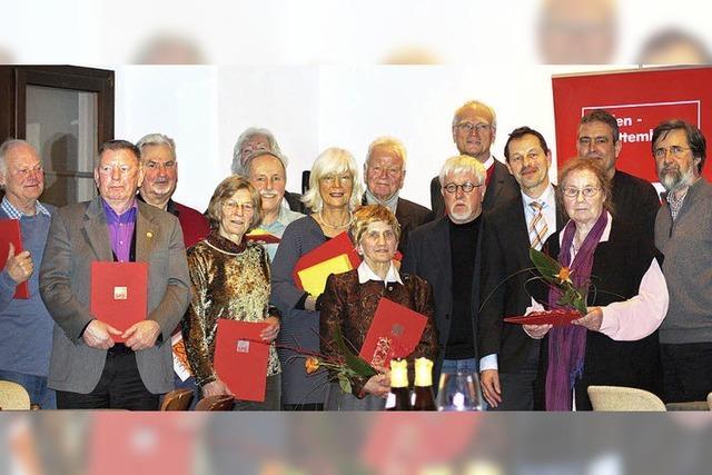 SPD ehrt treue Mitglieder