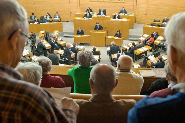 Letzte Landtagssitzung – die Stunde des Abschieds