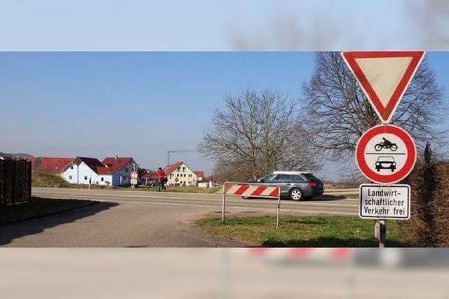 Ein Kreisverkehr auf Riegeler Kosten