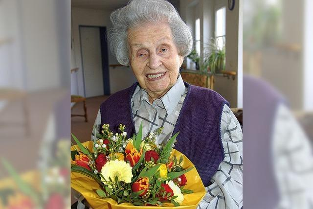 Emmi Schmalz wird heute 107 Jahre alt