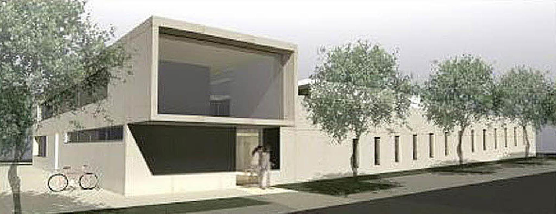 So sehen die ersten Planungen für die ...ndertagesstätte der Roche Pharma aus.   | Foto: Repro: Würkert &Partner Architekten