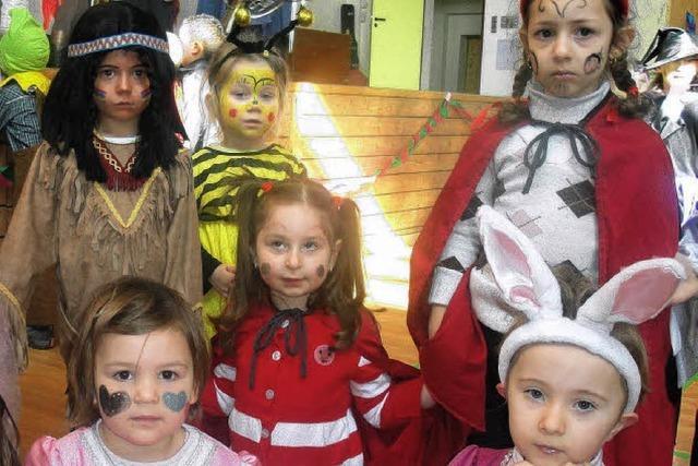Kinder feierten wild und feurig