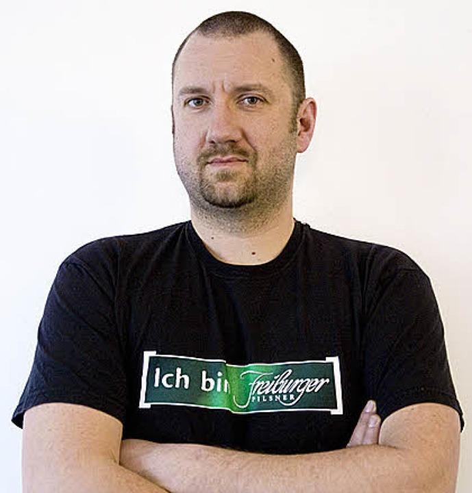 """Ihm geht's um die Wurst: """"mensadrei""""- Chef Holger Sielaff    Foto: wissing"""