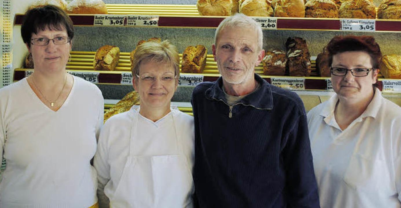 Bäcker- und Konditormeister Karl-Anton...itte Joos, Bäckereifachverkäuferinnen   | Foto: Robert Ullmann