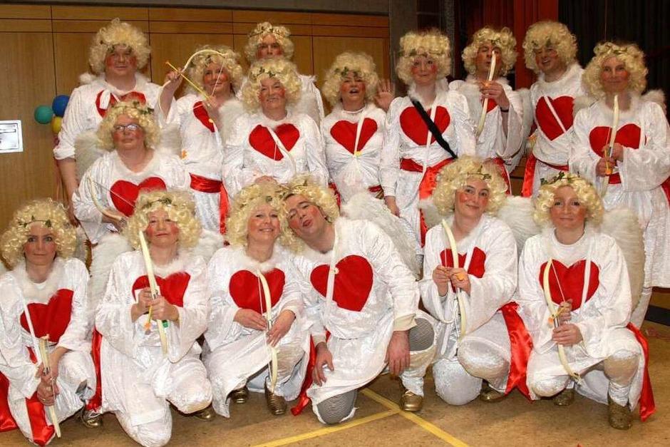 """Die Kostümgruppe """"Amor"""" landete auf dem 1. Platz und erhielt als größte Gruppe auch einen Extra-Preis. (Foto: Chris Seifried)"""