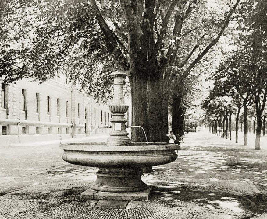 Der heutige Flecklehäsbrunnen stand im...Hotel einen neuen Standplatz gefunden.  | Foto: Archiv Hans Sigmund