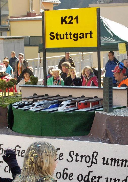 Der Elferrat Aitern gewann in Schönau mit dem Thema Stuttgart 21  | Foto: Felix Held