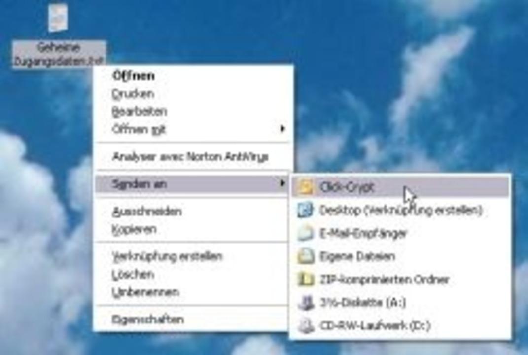 ClickCrypt - Das Programm integriert s...ieren. Download: ClickCrypt </a>