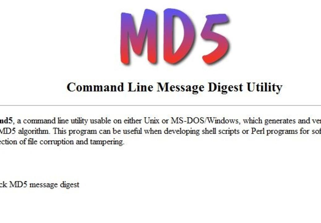MD5 Algorithmus - MD5 (Message Digest .... Download: MD5 Algorithmus </a>