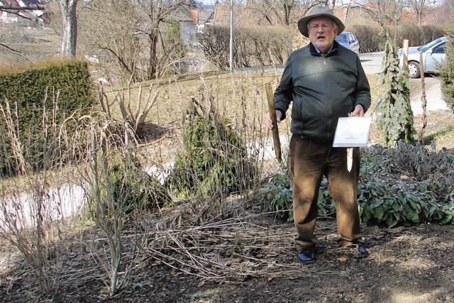 Zerstörung im Garten der Bibel