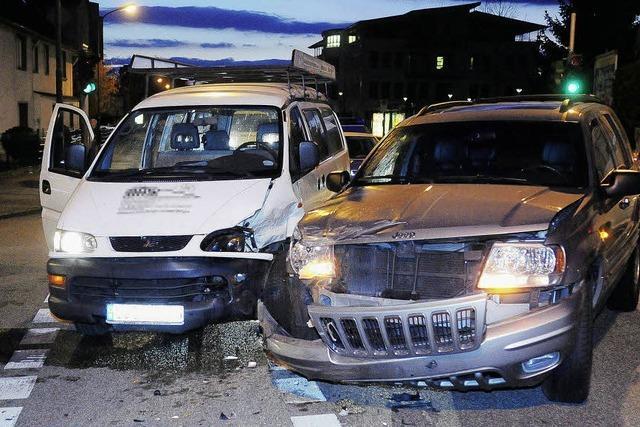 Hoher Schaden bei Unfall
