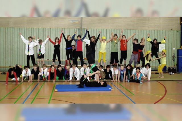 Akrobatische Kunststücke