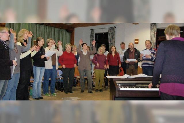 Freude am Singen stets im Mittelpunkt