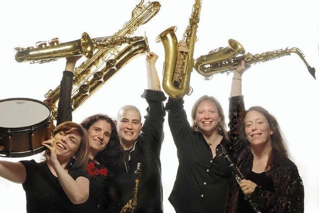 Vier Saxofone
