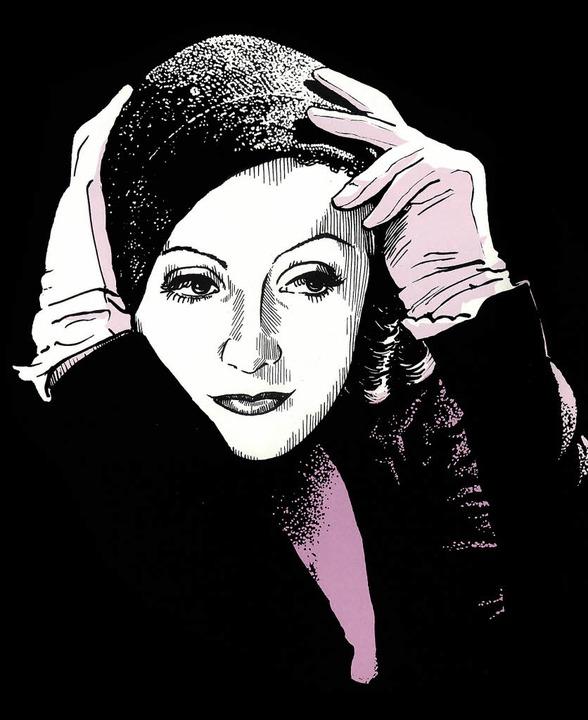 Greta Garbo, gezeichnet von Robert Nippoldt   | Foto: Verlag