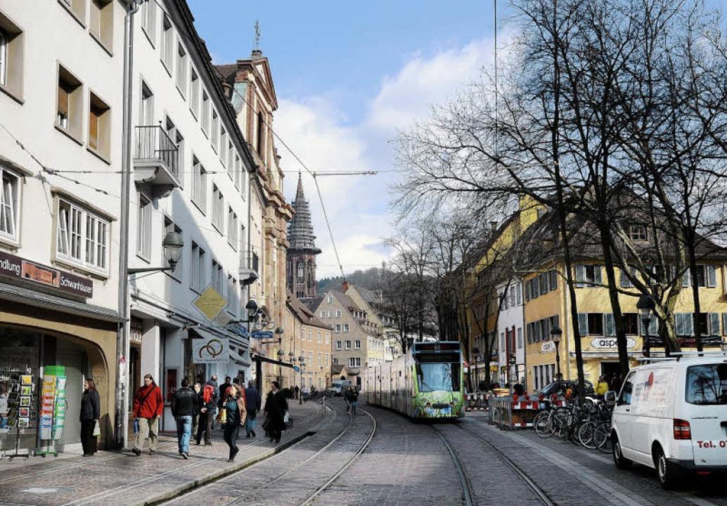 Die gleiche Ansicht heute zeigt eine d... Bild) deutlich zurückgesetzt wurden.   | Foto: Ingo Schneider