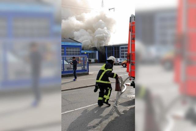 Vier Verletzte bei Brand