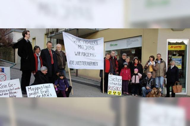 Mahnwache für die Opfer und gegen Kernenergie