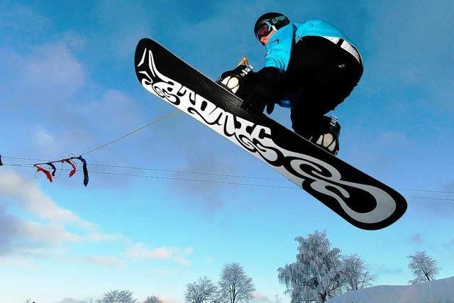 Viel Spaß für Snowboarder am Feldberg