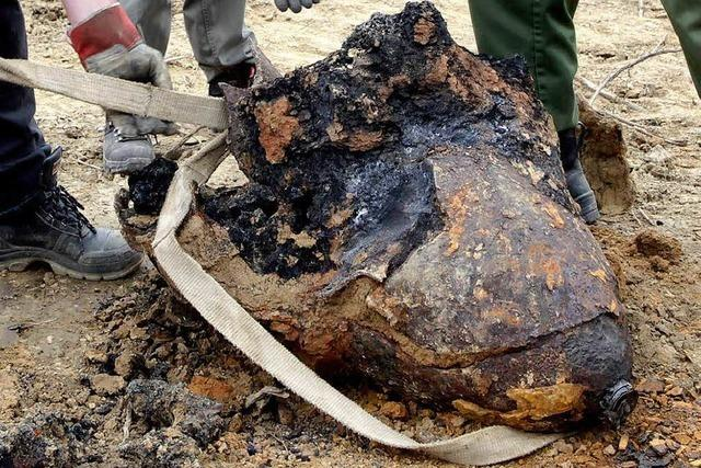 Amerikanische Fliegerbombe in Lahr entdeckt