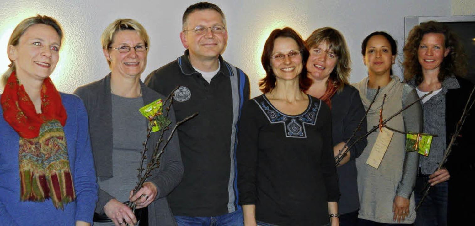 Der scheidende  und neue Vorstand des ...Pacheco- Garcia und  Birgit Berhalter     Foto: sabine vöckt
