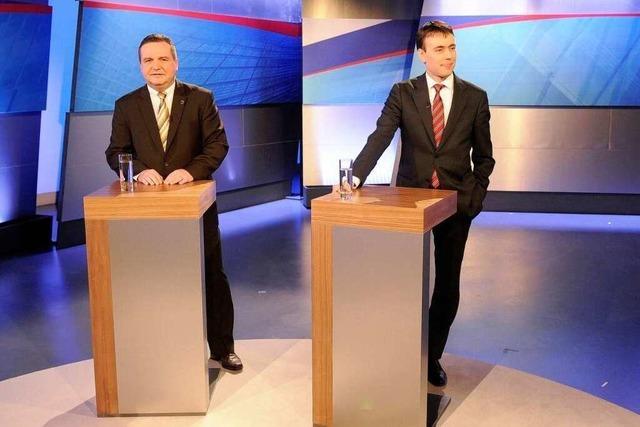 Stefan Mappus und Nils Schmid geben sich ein sanftes TV-Duell