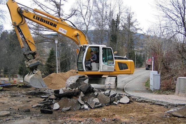 Arbeiten an der Kolpingstraße