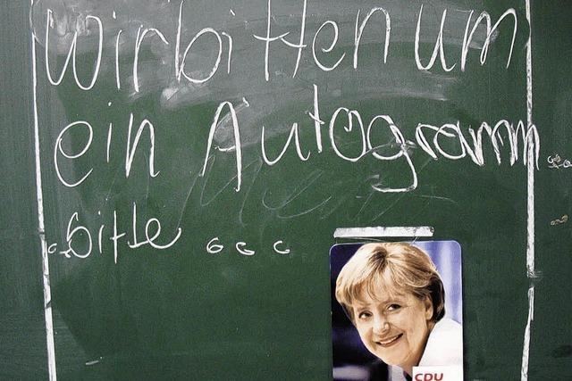 Merkel kam nicht zur Schule