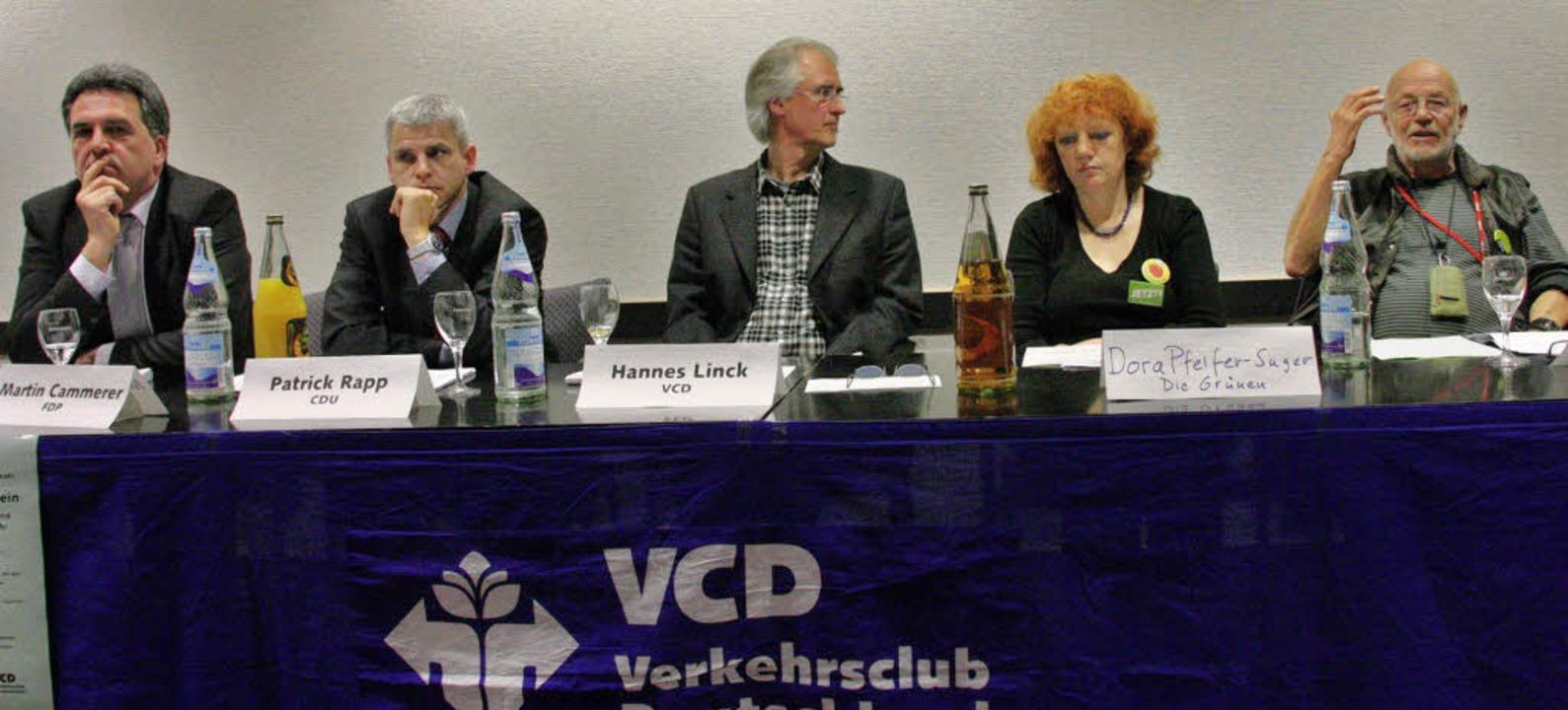 Podiumsdiskussion des Verkehrsclubs De...d Hanspeter Egel-Fischer (Die Linke).   | Foto: Hans Jürgen Kugler