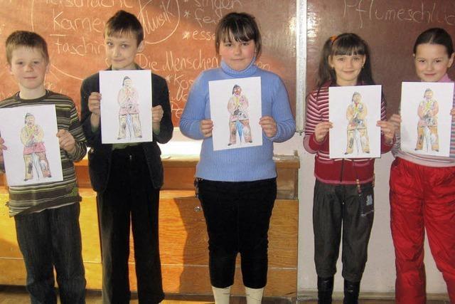 Bonndorfer Fasnet begeistert Kinder in Weißrussland
