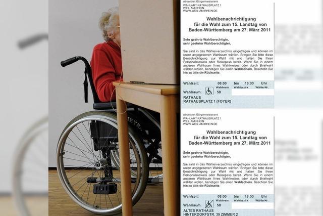 Mit dem Rollstuhl zur Wahl