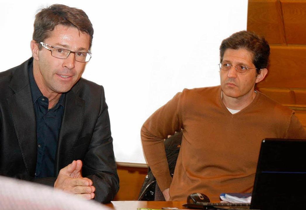 Rüdiger van der Vliet (links) und  Christopher Kunz  | Foto: Heidi Foessel