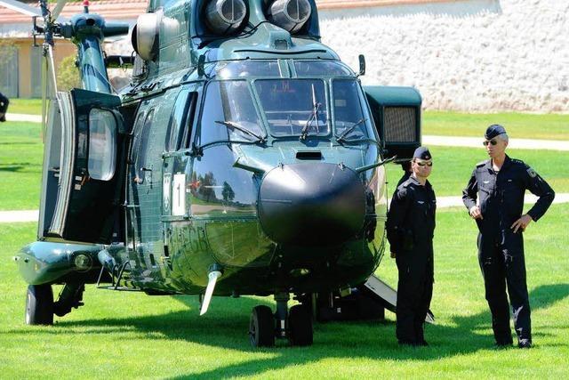 Hubschrauber nach Merkels Südbaden-Tour fast abgestürzt
