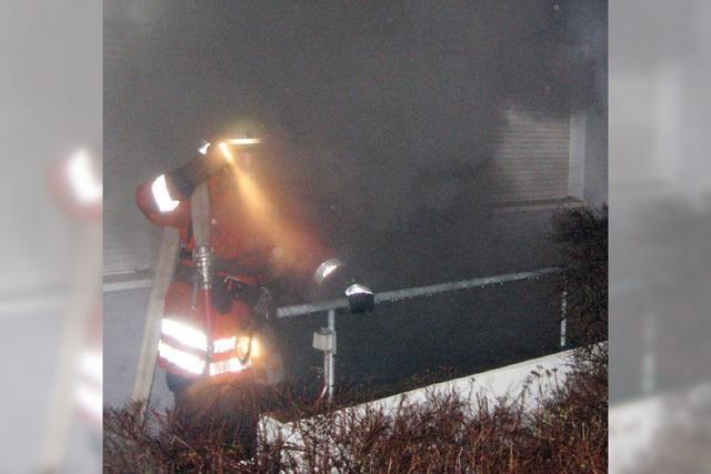Glimpflicher Ausgang bei Wohnhausbrand