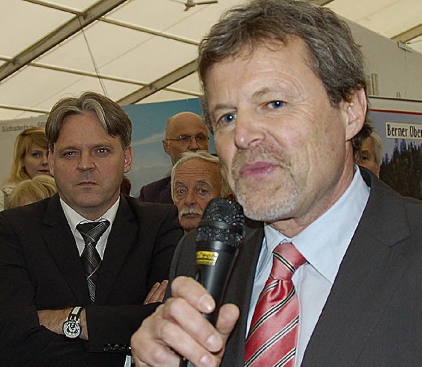 Thomas Neff und Michael Berchtold von der der SBB   | Foto: Nikolaus Trenz