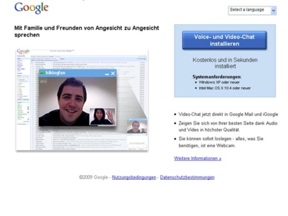 Google Voice- und- Video-Chat