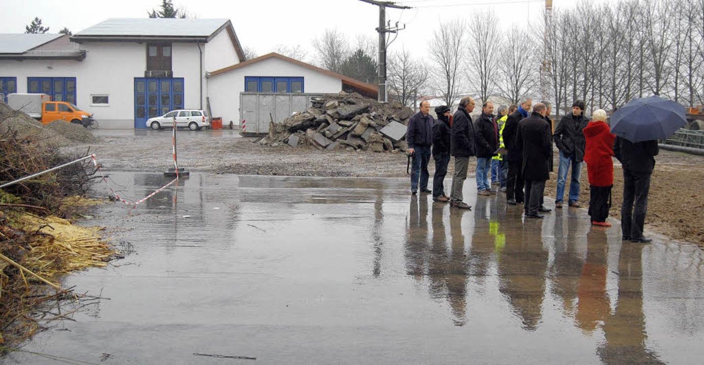 Befestigt wurde der Untergrund der Grü...und Gottenheim beim Bötzinger Bauhof.   | Foto: antonia felber