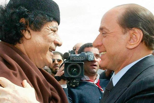 Berlusconi und Gaddafi: Gestern Freund, heute Feind