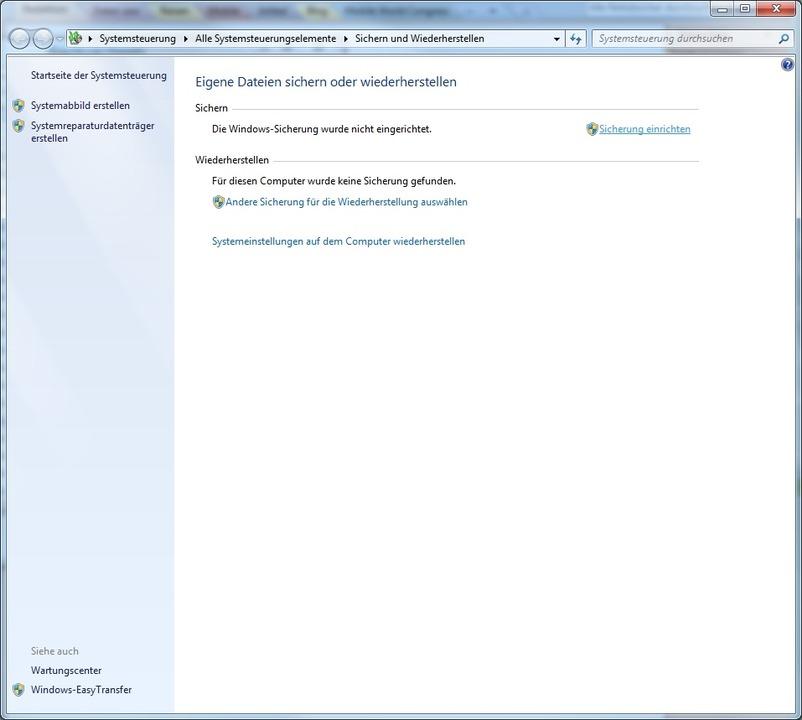Windows Sicherung - Die Windows Sicher... Teil von Windows Vista und Windows 7.  | Foto: IDG
