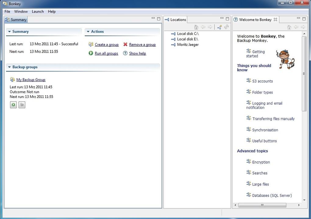 Bonkey - The Backup Monkey - Bonkey is...igaben auch Cloud-Dienste unterstützt.  | Foto: IDG