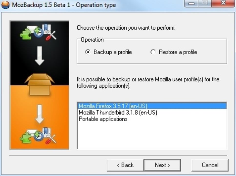 MozBackup - MozBackup ist auf die Sich...Firefox und Thunderbird spezialisiert.  | Foto: IDG