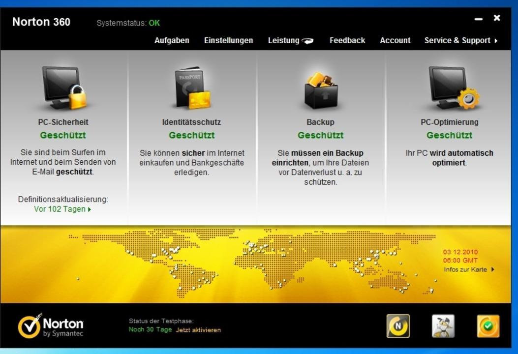 Norton 360 - Die Sicherheitslösung von...thält eine Funktion zum Online-Backup.  | Foto: IDG